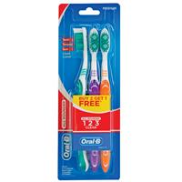 Oral B Toothbrush All Rounder 1 2 3 Clean 3 Pack