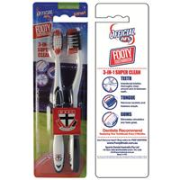 AFL Toothbrush St. Kilda Saints Twin Pack