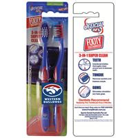 AFL Toothbrush Western Bulldogs Twin Pack