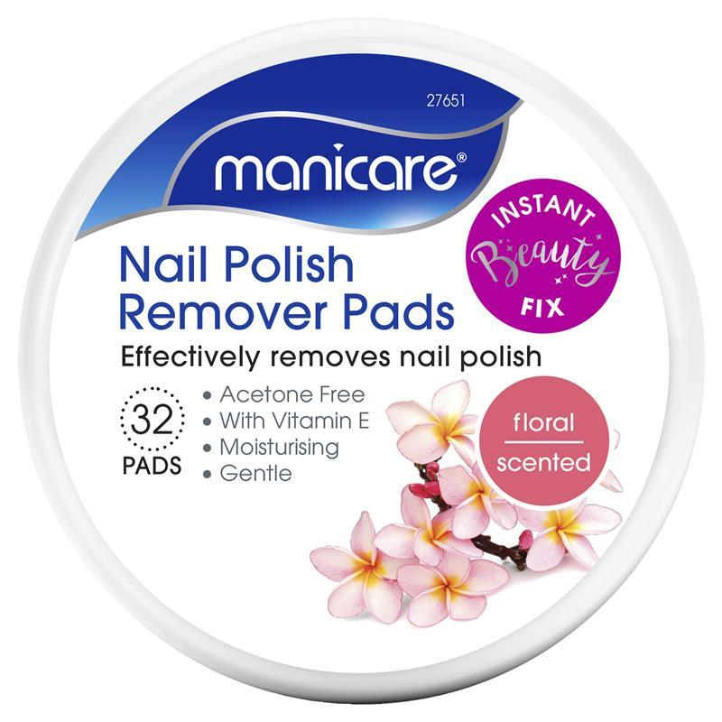 Manicare Nail Polish Remover Pads Floral - ePharmacy