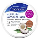 Manicare Nail Polish Remover Pads Coconut