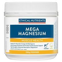 Ethical Nutrients Mega Magnesium Powder Citrus 200g