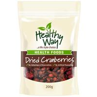 Healthy Way Dried Cranberries 200g
