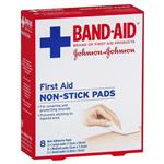 Band-Aid First Aid Non-Stick Pads 8 Pack