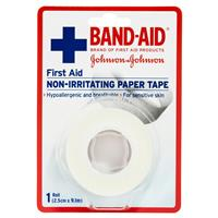 Band-Aid First Aid Paper Tape Non-Irritating 9.1m