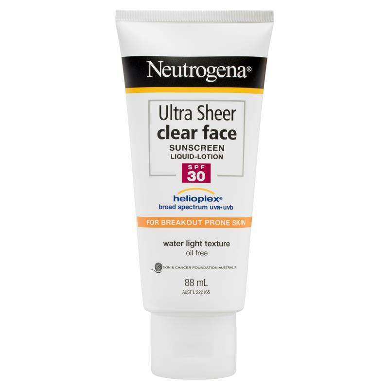Neutrogena Ultra Sheer Clear Face Lotion SPF30+ 88mL