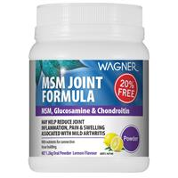 Wagner MSM Joint Formula with MSM Glucosamine & Chondroitin 1kg + 20% FREE