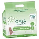 Gaia Natural Baby Bamboo Wipes 240