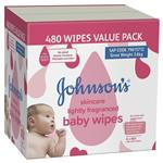 Johnson's Baby Wipes Skincare Wipes Lightly Scented 6x80