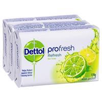 Dettol ProFresh Refresh Bar Soap 120g 3 Pack