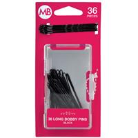 My Beauty Hair Large Bobby Pins 36 Pack Black