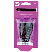 My Beauty Hair Large Bobby Pins 36 Pack Brown