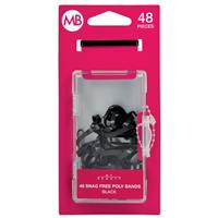 My Beauty Hair Poly Band 48 Pack Black