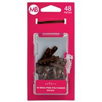 My Beauty Hair Poly Band 48 Pack Brown
