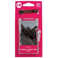My Beauty Hair Small Bobby Pins 80 Pack Brown
