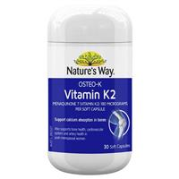 Nature's Way OSTEO K Vitamin K2 180mcg 30 Caps