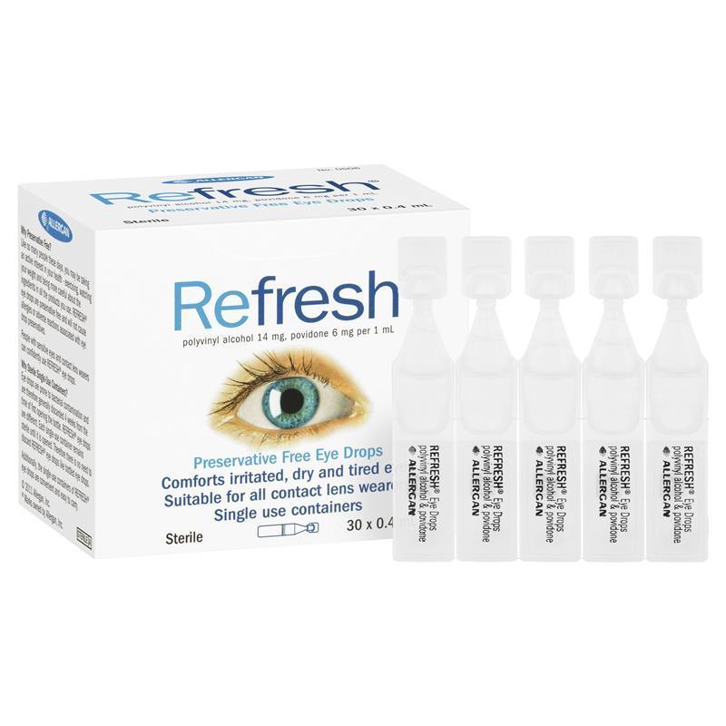 ツbest Price Refresh Eye Drops 0 4ml X 30 Irritated Dry