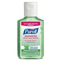 Purell Advanced Instant Hand Sanitiser Aloe 60mL