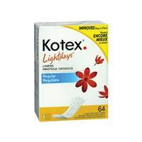 Kotex Regular Liners 64 Pack
