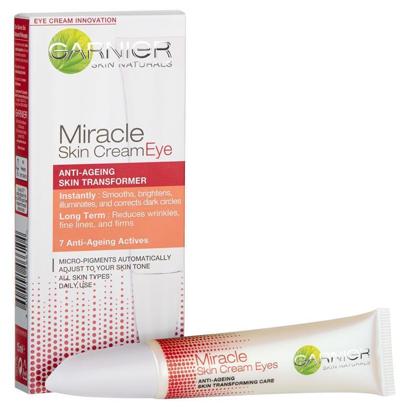 buy garnier miracle skin eye cream 15ml online at chemist. Black Bedroom Furniture Sets. Home Design Ideas