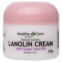 Healthy Care Lanolin Cream With Grape Seed 100g