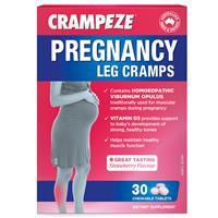 Crampeze Pregnancy Leg Cramps 30 Chewable Tablets