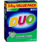 Duo Laundry Powder Cleans & Cares 1.4kg
