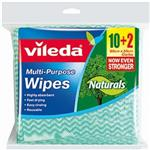 Vileda Naturals Wipes Multi Purpose10 Pack