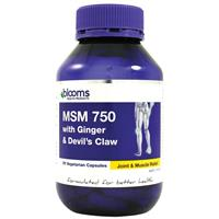Blooms MSM 750mg/Ginger 1000mg & Devils Claw 25mg 90 Vegetarian Capsules
