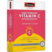 Swisse Ultiboost High Strength Vitamin C 60 Effervescent Tablets
