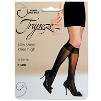 Trapeze Sheer Knee Hi 2 pack Black