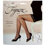 Trapeze Sheer Pantyhose Black Tall