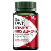 Nature's Own Celery Seed 4000mg 30 Capsules