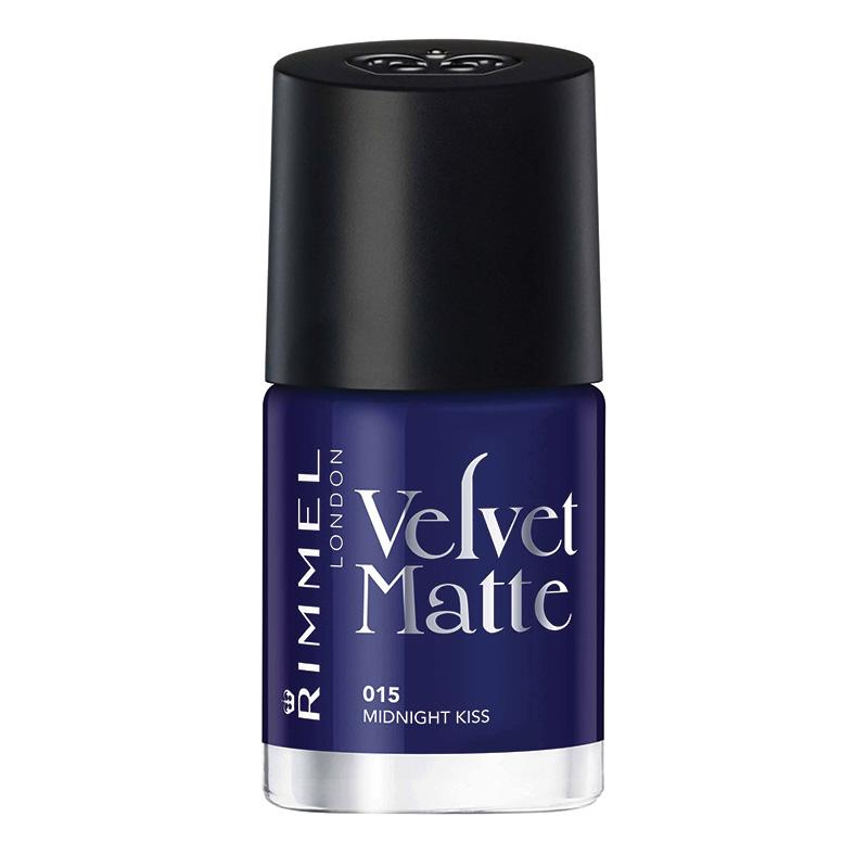 Rimmel Velvet Matte Nail Polish Blue
