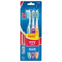 Oral B Toothbrush All Rounder 1 2 3 Clean Soft 3 Pack