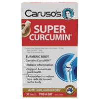 Carusos Natural Health Super Curcumin Arthritis Relief 30