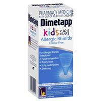 Dimetapp Allergic Rhinitis Colour Free Kids 2-5