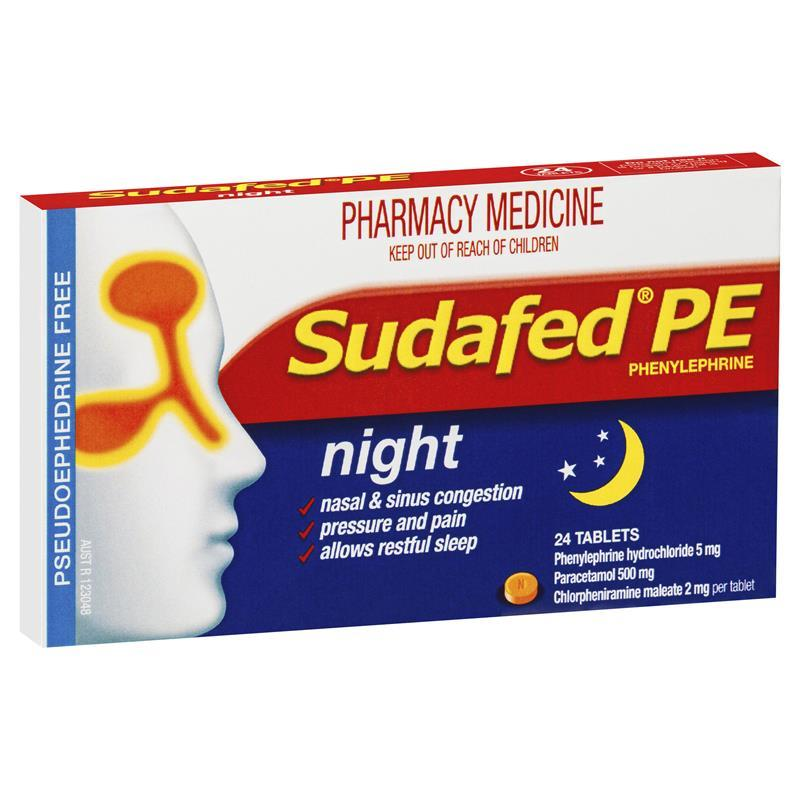 Sudafed PE Night 24