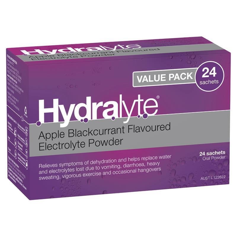 Buy Hydralyte Apple Blackcurrant Sachets 4.9g x 24 Online ...