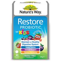 Nature's Way Kids Restore Probiotic 30 Tablets