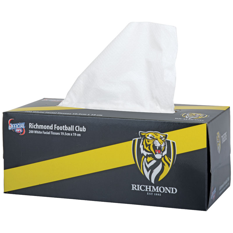 AFL Tissue Box 2Ply Richmond Tigers 200