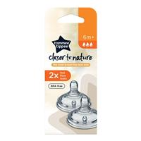 Tommee Tippee Closer To Nature Fast Flow Teats 2 Pack