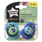 Tommee Tippee Closer To Nature Fun Style Soothers 0-6 Months 2 Pack
