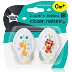 Tommee Tippee Closer To Nature Soother Holders 2 Pack