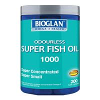 Bioglan Super Odourless Fish Oil 1000/500mg 200 Capsules