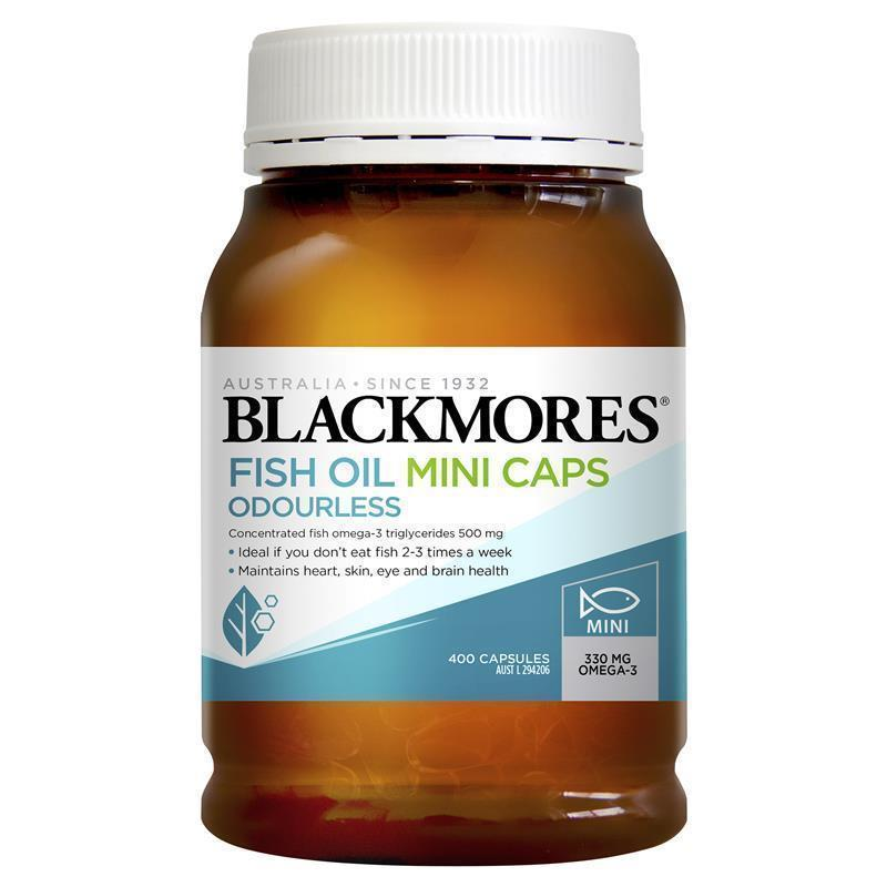 Blackmores odourless fish oil 400 mini capsules my chemist for Fish oil pregnancy