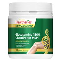 Healtheries Glucosamine 1500 Condroitin MSM 180 Tablets