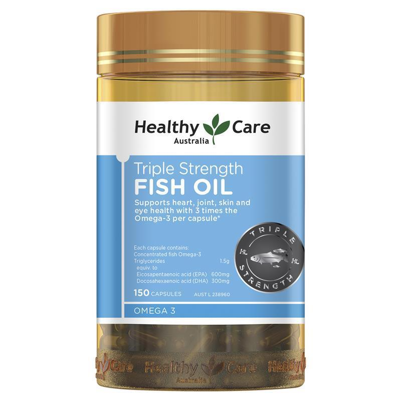 buy healthy care triple strength fish oil 150 capsules