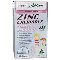 Healthy Care Zinc Milk Flavour 120 Chewable Tablets