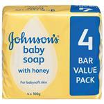 Johnson & Johnson Baby Soap Honey 4 Pack